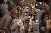 Unidentified Hame Woman At The Market In Turmi