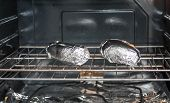 Baked Potatoes In Foil In Oven
