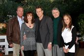 LOS ANGELES - JAN 23:  John James, Pamela Sue Martin, Al Corley, Gordon Thompson, Pamela Bellwood at the Home and Family Show taping at a Universal Lot on January 23, 2015 in Universal City, CA