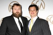 LOS ANGELES - JAN 24:  Robert Kirkman, Dave Alpert at the Producers Guild of America Awards 2015 at a Century Plaza Hotel on January 24, 2015 in Century City, CA