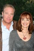 LOS ANGELES - JAN 23:  John James, Pamela Sue Martin at the Home and Family Show taping at a Universal Lot on January 23, 2015 in Universal City, CA