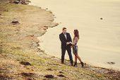 Romantic Couple Walking