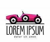 retro car vector logo design template. transport or racing car icon.