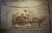 Erotic Fresco From The Largest Pompeii Brothel