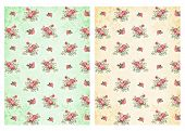 picture of decoupage  - Shabby chic backgrounds with roses  - JPG