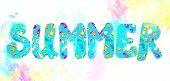 Summer banner - funny watercolor design