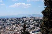 Granada city rooftops.