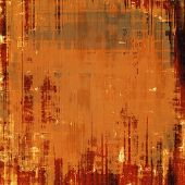 Abstract composition on textured, vintage background with grunge stains. With different color patterns: yellow (beige); brown; red (orange)