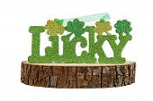 St. Patrick's day luck sign