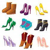 Set of fancy shoes