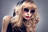 Fashionable Blonde Woman Posing.