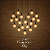 Balls Lights Arranged In A Heart Shape