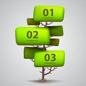 Vector tree banner