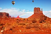 Navajo Reservation in Arizona and Utah. Stone desert and rocks -