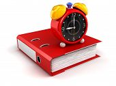foto of three dimensional shape  - Image of folder and alarm clock - JPG