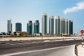 Abu Dhabi New District With Skyscrapers. United Arab Emirates