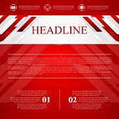 Red vector corporate abstract background. Vector design