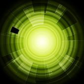 Green hi-tech background. Vector design