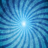 Blue grunge swirl background. Vector design