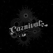 vector typographical illustration with ornate word carnival and light rays, starburst or fireworks o