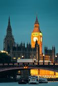 pic of westminster bridge  - Westminster Palace and bridge over Thames River in London - JPG