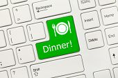 White Conceptual Keyboard - Dinner (green Key)