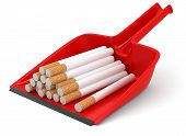 Dustpan and Cigarettes (clipping path included)