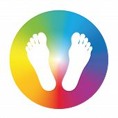 Feet Gradient Color Wheel