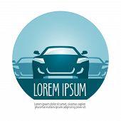 car vector logo design template. transport or rally icon.