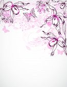 Floral Background With Orchids