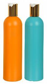 image of gels  - Closed Cosmetic Or Hygiene  Plastic Bottle Of Gel - JPG