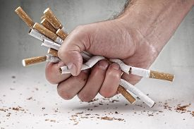 picture of bans  - Man refusing cigarettes concept for quitting smoking and healthy lifestyle - JPG