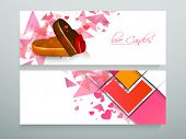 pic of candy  - Beautiful website header or banner set with heart shape candies and love candy text for candy shop - JPG