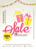 stock photo of eid al adha  - Special offer sale with discount offer for Muslim community festival - JPG