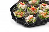 picture of buffet lunch  - buffet box with cover set catering canape isolated - JPG