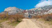 pic of crimea  - Autumnal season in mountains  - JPG