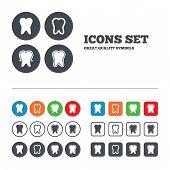 foto of teeth  - Tooth enamel protection icons - JPG