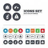foto of attention  - Bug disinfection icons - JPG