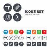 picture of hair cutting  - Hairdresser icons - JPG