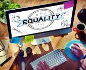 pic of equality  - Equality Balance Discrimination Equal Moral Concept - JPG