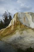 stock photo of thermal  - a thermal cone at mammoth terrace yellowstone - JPG