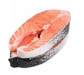 stock photo of salmon steak  - fresh salmon steak - JPG