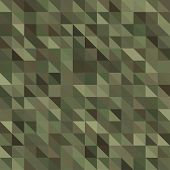 picture of camouflage  - Abstract Seamless  Military Camouflage Background Made of Geometric Triangles Shapes - JPG