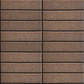 foto of paving  - Paving Slabs Brown Lined with Narrow Rectangles - JPG