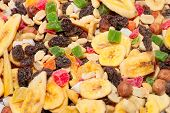 image of dry fruit  - pile of dried fruit as part of the food - JPG