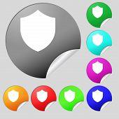 foto of shield  - Shield Protection icon sign - JPG