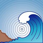 Onda de Tsunami gigante
