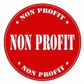 picture of non-profit  - Red stamp with text Non Profit - JPG