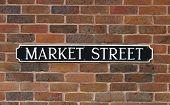 Market Street Sign, 18c