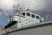 Detail of Royal Navy warship